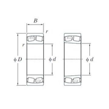 190 mm x 340 mm x 92 mm  KOYO 22238RK spherical roller bearings