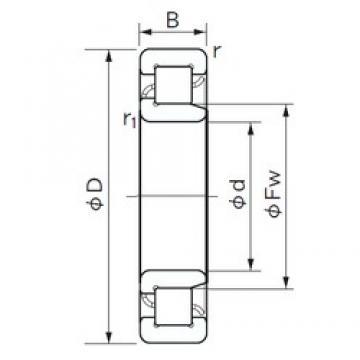 170 mm x 310 mm x 52 mm  NACHI NJ 234 E cylindrical roller bearings