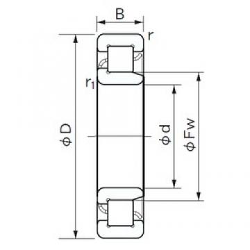 190 mm x 340 mm x 92 mm  NACHI NJ 2238 cylindrical roller bearings