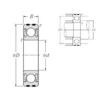 15 mm x 42 mm x 13 mm  NTN EC-6302ZZ deep groove ball bearings