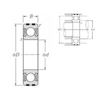 15 mm x 42 mm x 13 mm  NTN EC-6302LLU deep groove ball bearings