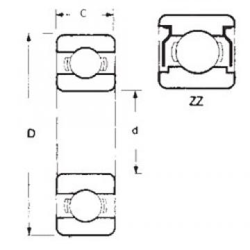 80 mm x 140 mm x 26 mm  FBJ 6216ZZ deep groove ball bearings