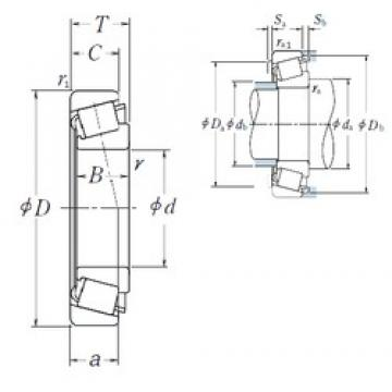 30 mm x 72 mm x 19 mm  NSK HR30306C tapered roller bearings
