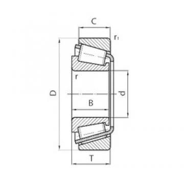 30 mm x 72 mm x 19 mm  NSK 30306CN tapered roller bearings