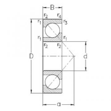 15 mm x 42 mm x 13 mm  NKE 7302-BE-TVP angular contact ball bearings