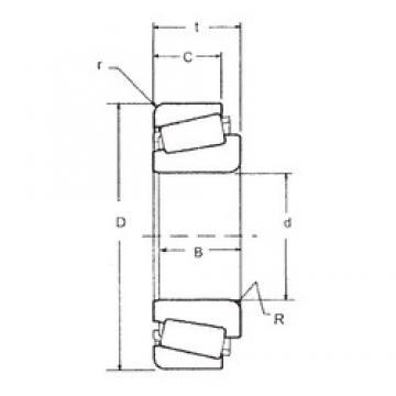 30 mm x 72 mm x 19 mm  FBJ 30306 tapered roller bearings