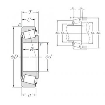 30 mm x 72 mm x 19 mm  NTN 4T-30306D tapered roller bearings