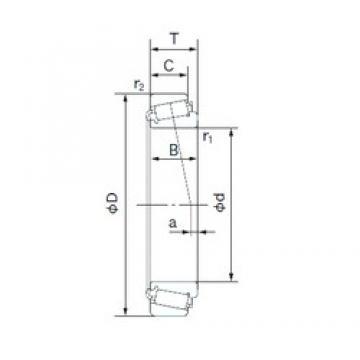 30 mm x 72 mm x 19 mm  NACHI E30306DJ tapered roller bearings