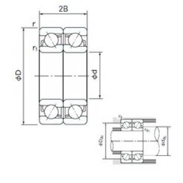 120 mm x 180 mm x 28 mm  NACHI 7024DF angular contact ball bearings