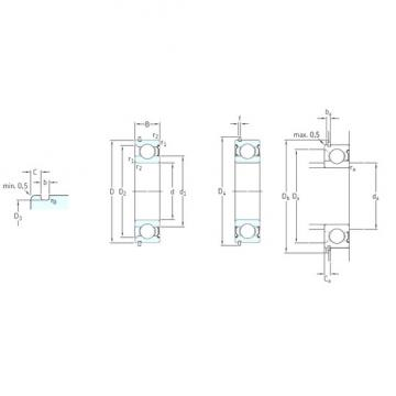 50 mm x 110 mm x 27 mm  SKF 6310-2ZNR deep groove ball bearings