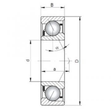 80 mm x 140 mm x 26 mm  ISO 7216 A angular contact ball bearings