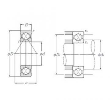 65 mm x 120 mm x 23 mm  NTN QJ213 angular contact ball bearings