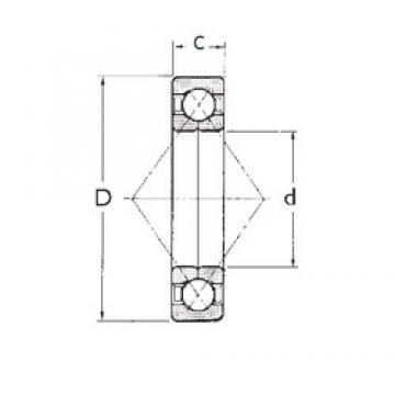 80 mm x 140 mm x 26 mm  FBJ QJ216 angular contact ball bearings