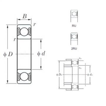 45 mm x 58 mm x 7 mm  KOYO 6809-2RU deep groove ball bearings