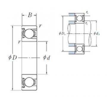50 mm x 110 mm x 27 mm  NSK BL 310 Z deep groove ball bearings