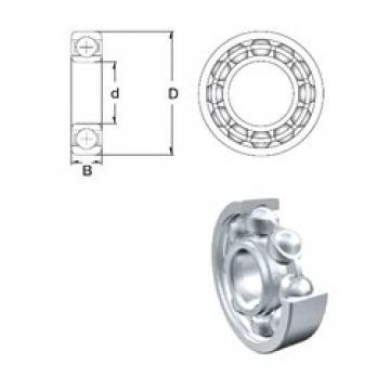 15 mm x 42 mm x 13 mm  ZEN 6302 deep groove ball bearings