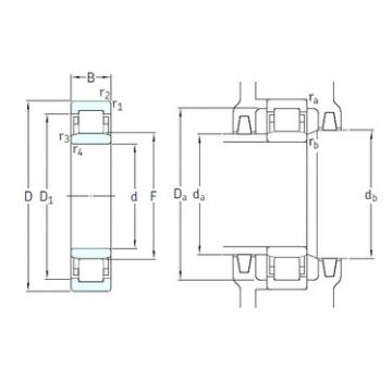 50 mm x 110 mm x 27 mm  SKF NU310ECM/HC5C3 cylindrical roller bearings