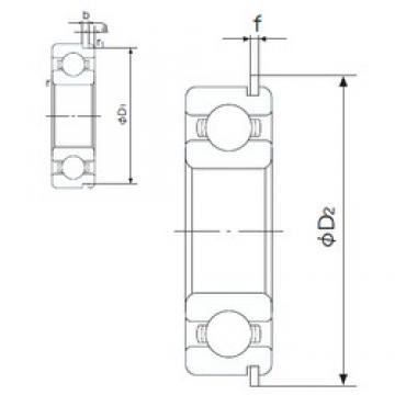 15 mm x 42 mm x 13 mm  NACHI 6302NR deep groove ball bearings