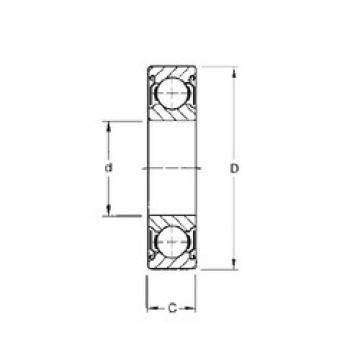 45 mm x 58 mm x 7 mm  CYSD 6809-ZZ deep groove ball bearings