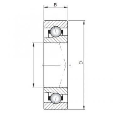 ISO 71809 A angular contact ball bearings