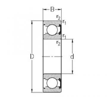 45 mm x 58 mm x 7 mm  NKE 61809-2RSR deep groove ball bearings