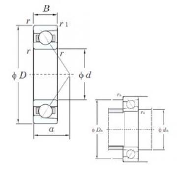 50 mm x 110 mm x 27 mm  KOYO 7310C angular contact ball bearings