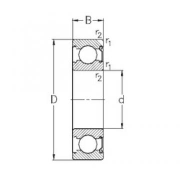 15 mm x 42 mm x 13 mm  NKE 6302-Z deep groove ball bearings