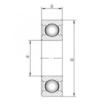 80 mm x 140 mm x 26 mm  ISO 6216 deep groove ball bearings