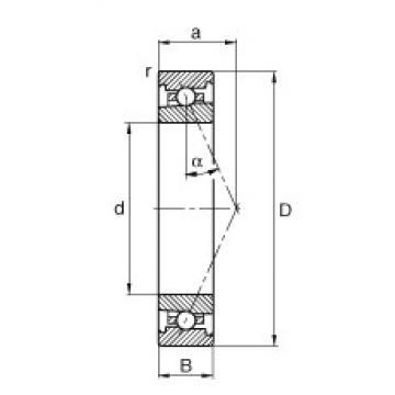 120 mm x 180 mm x 28 mm  FAG HS7024-E-T-P4S angular contact ball bearings