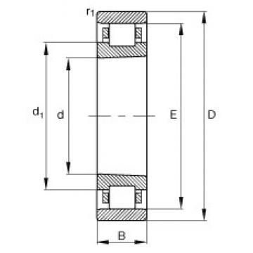 120 mm x 180 mm x 28 mm  FAG N1024-K-M1-SP cylindrical roller bearings