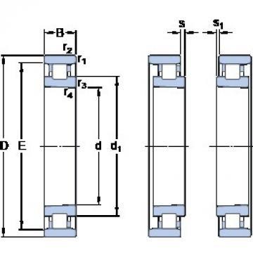 120 mm x 180 mm x 28 mm  SKF N 1024 KTNHA/SP cylindrical roller bearings