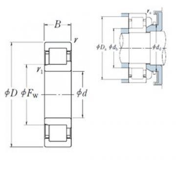 120 mm x 180 mm x 28 mm  NSK NJ1024 cylindrical roller bearings