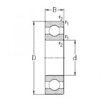 170 mm x 310 mm x 52 mm  NKE 6234-M deep groove ball bearings
