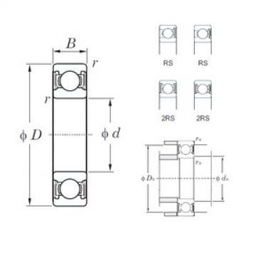 80 mm x 140 mm x 26 mm  KOYO 6216-2RS deep groove ball bearings