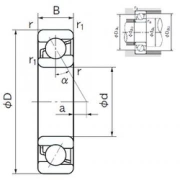 50 mm x 110 mm x 27 mm  NACHI 7310C angular contact ball bearings