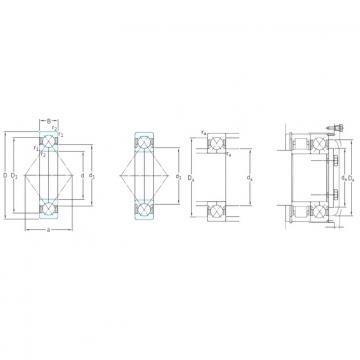 170 mm x 310 mm x 52 mm  SKF QJ234N2MA angular contact ball bearings