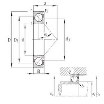 170 mm x 310 mm x 52 mm  FAG 7234-B-MP angular contact ball bearings