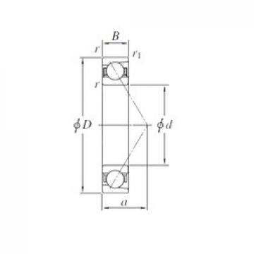 120 mm x 180 mm x 28 mm  KOYO 7024 angular contact ball bearings