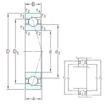 45 mm x 58 mm x 7 mm  SNFA SEA45 /NS 7CE3 angular contact ball bearings