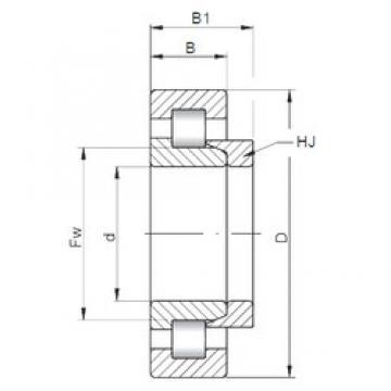 170 mm x 310 mm x 52 mm  Loyal NH234 E cylindrical roller bearings