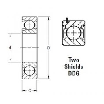 50 mm x 110 mm x 27 mm  Timken 310WDDG deep groove ball bearings