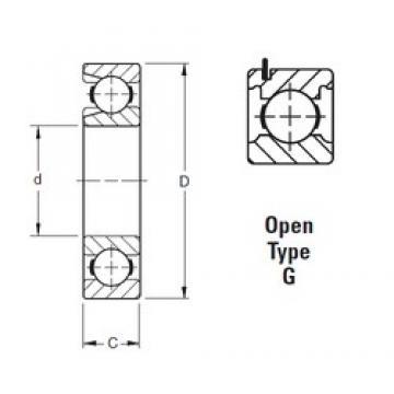 80 mm x 140 mm x 26 mm  Timken 216WG deep groove ball bearings