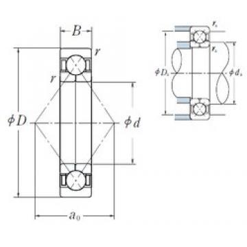 170 mm x 310 mm x 52 mm  NSK QJ 234 angular contact ball bearings