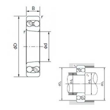 65 mm x 120 mm x 23 mm  NACHI 1213K self aligning ball bearings