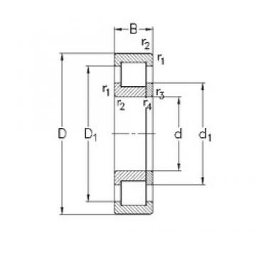 80 mm x 140 mm x 26 mm  NKE NUP216-E-M6 cylindrical roller bearings