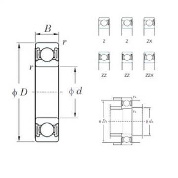 15 mm x 42 mm x 13 mm  KOYO 6302ZZ deep groove ball bearings