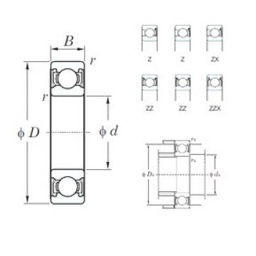45 mm x 58 mm x 7 mm  KOYO 6809ZZ deep groove ball bearings