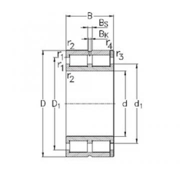 80 mm x 110 mm x 30 mm  NKE NNC4916-V cylindrical roller bearings