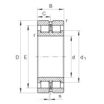 80 mm x 110 mm x 30 mm  INA SL024916 cylindrical roller bearings
