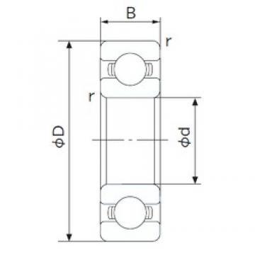 80 mm x 140 mm x 26 mm  NACHI 6216 deep groove ball bearings